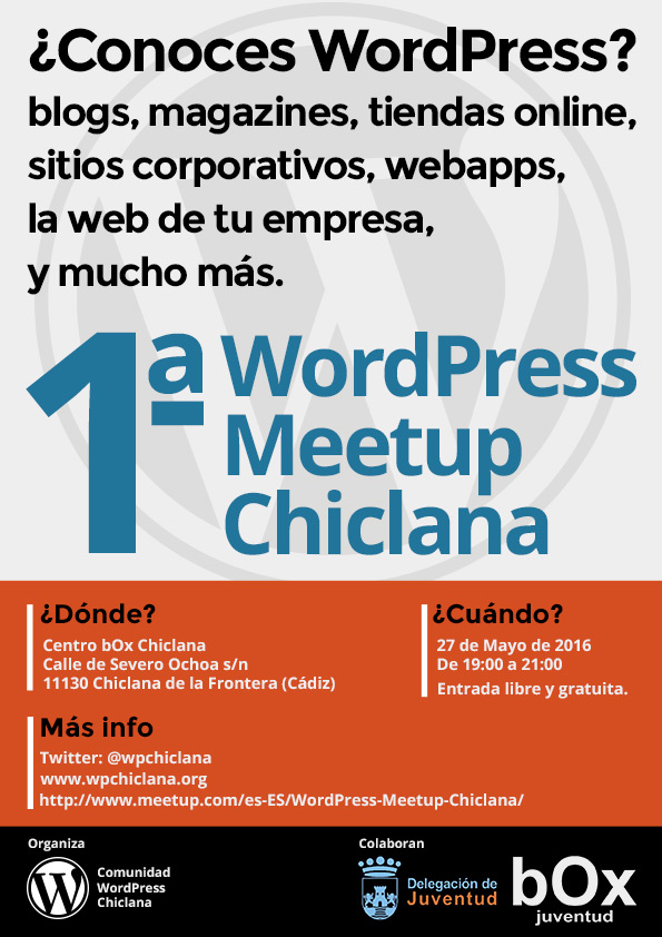1ª WordPress Meetup chiclana